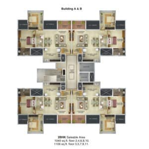 nine hills acropolis purple pune residential property floor plan
